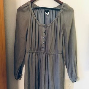 JCrew Grey 100% Silk Dress